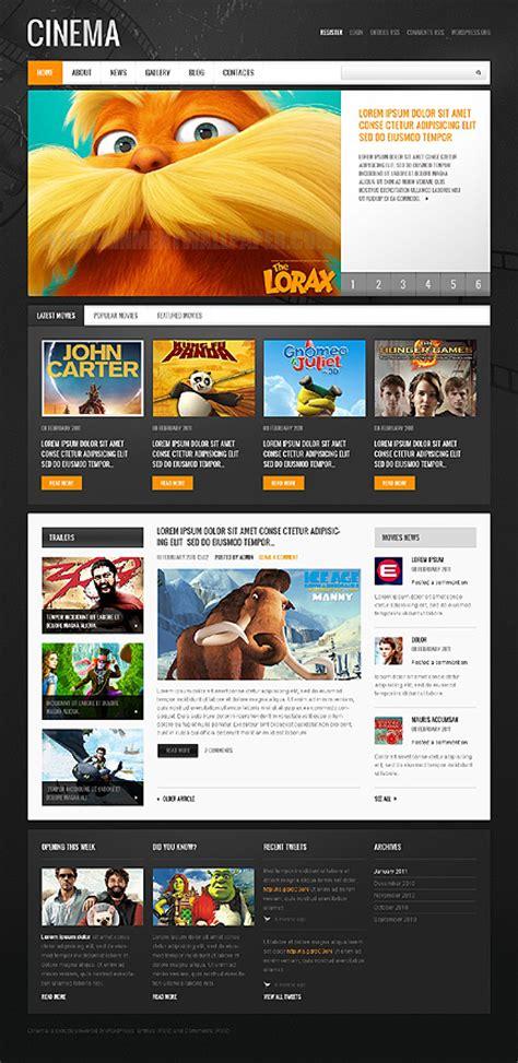 Stunning Retro And Vintage Web Design Templates Entheos Filmmaker Website Template