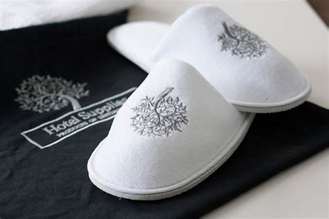 monogrammed bedroom slippers bespoke hotel hotel promotion promotional items
