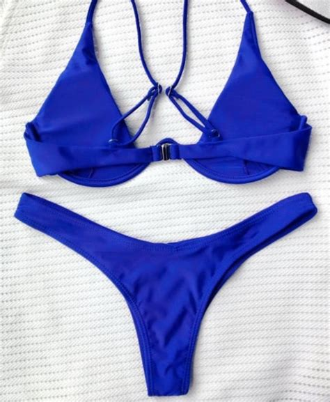live wire bottom cobalt blue ittybittykinis