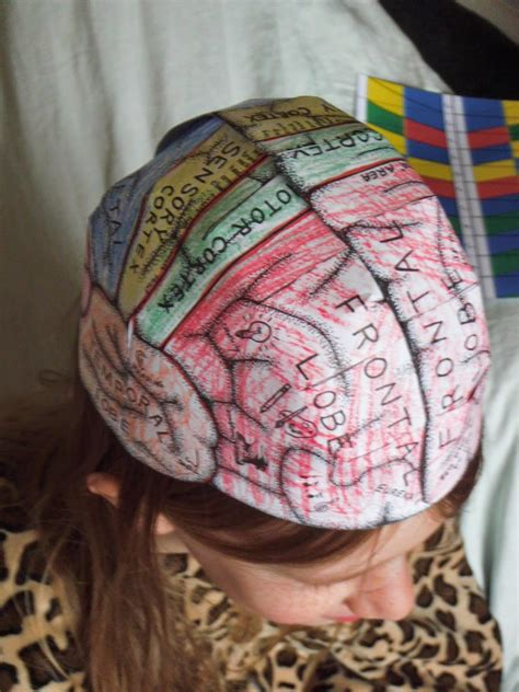 How To Make A Paper Brain - home education mchenry brain hats and st george s
