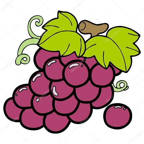 Imagenes Animadas Sobre Uvas | ilustraci 243 n de dibujos animados uvas aislada sobre fondo