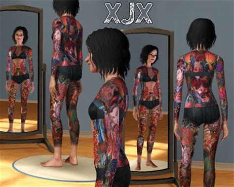 full body tattoo the sims 3 my sims 3 blog japanese full body suit tattoo by xjonasx