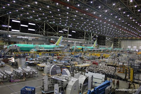 Boeing Renton Map Car Interior by Line 1 At The Boeing 737 Renton Factory Image David