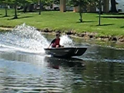 top ten bass boats me going full speed on a 14 ft jon boat with 8 hp