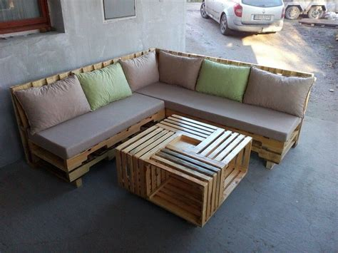 Sofa Pallet wooden pallet l shape sofa set