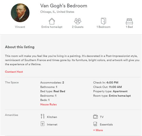 Gogh Bedroom Airbnb Airbnb Is Offering You The Chance To Sleep Inside A