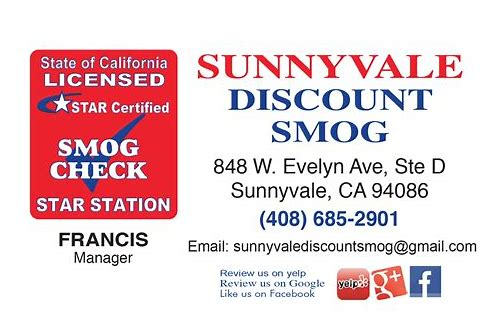 sunnyvale smog center coupon
