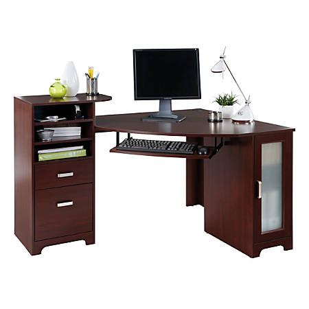 office depot corner desk bradford corner desk cherry by office depot officemax