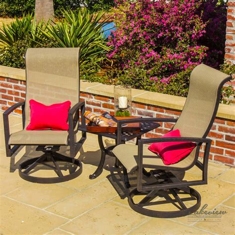 Sling Patio Furniture Sets Acadia Sling Patio Furniture Modern Outdoor Lounge Sets Other Metro By Ultimatepatio