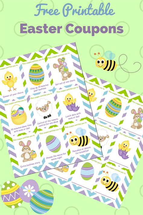printable images for easter printable easter coupons for kids