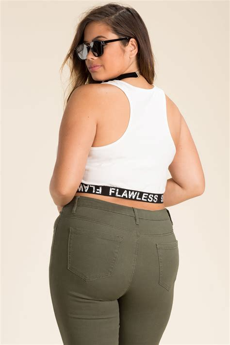 Flawless Top by S Plus Size Cropped Tops Get Flawless Crop Top A