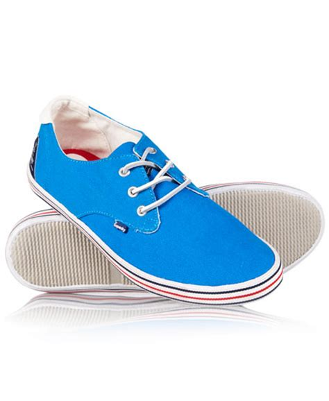 gorgeous whiteness superdry mens skipper shoes cobalt