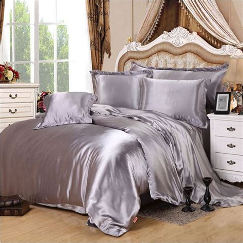 satin bed comforter popular silver satin comforter buy cheap silver satin