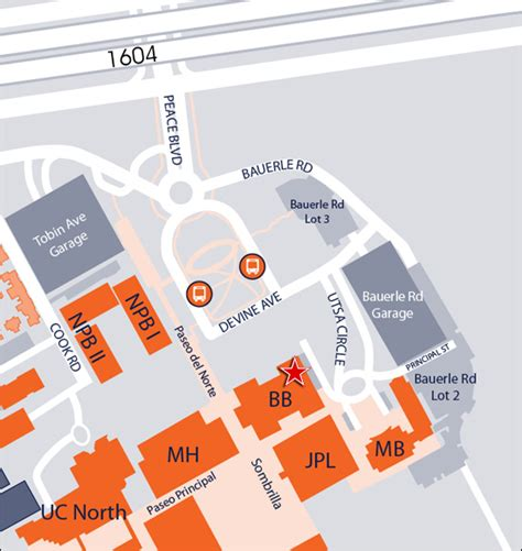 utsa map of at san antonio college of business information for visitors maps and