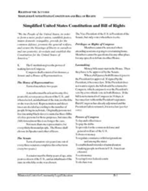 Ratifying The Constitution Worksheet Answers by Free Printable Worksheets On The U S Constitution Free