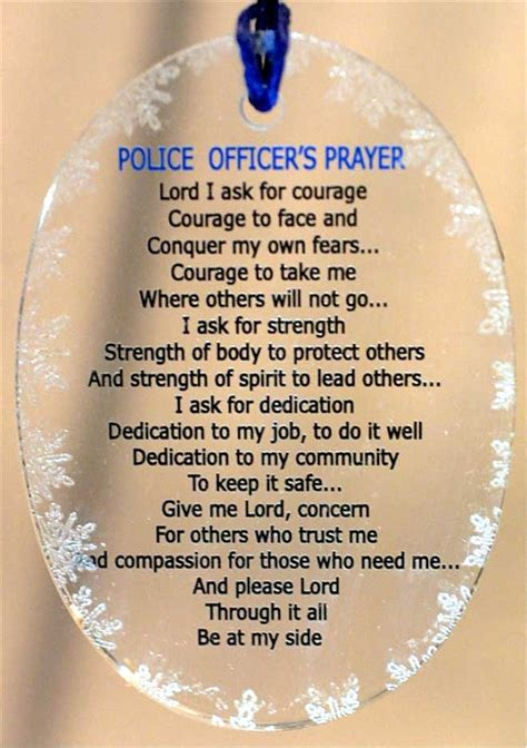 Prayers For Officers by Blue Line Living Loving And Thriving As