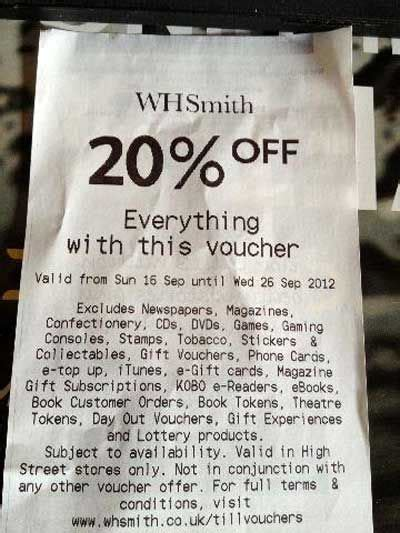 printable whsmith vouchers everything except neatorama
