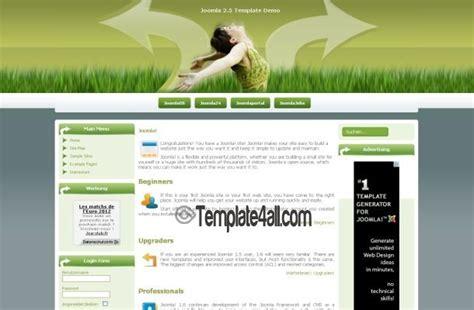 best photos of 2 column website template green free css