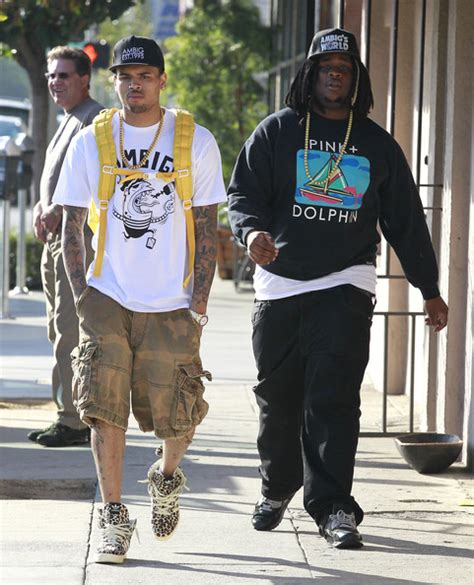 Js Denim Dmc chris brown wearing ambig clothing and x adidas js leopard sneakers upscalehype