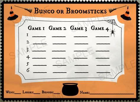 halloween themed bunco halloween bunco score card printable 5x7 by