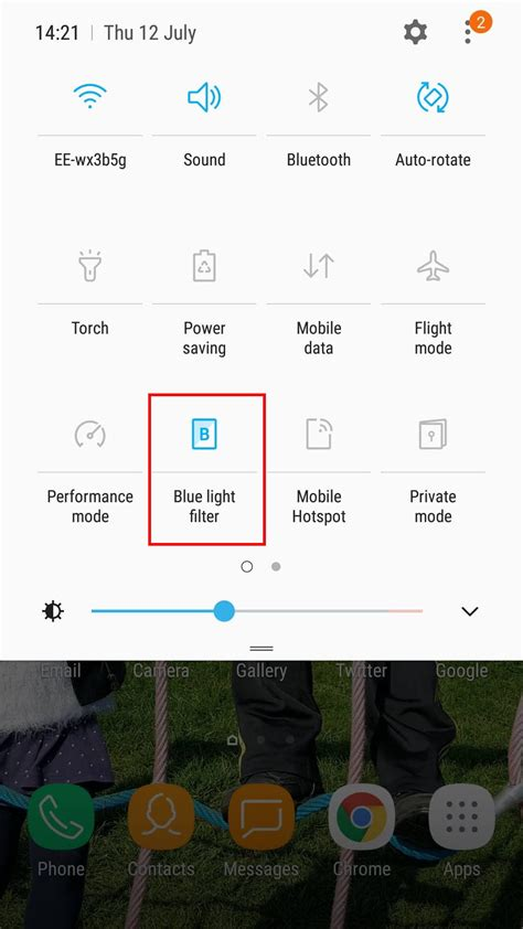 what is blue light filter samsung how to use a blue light filter on your phone digital trends