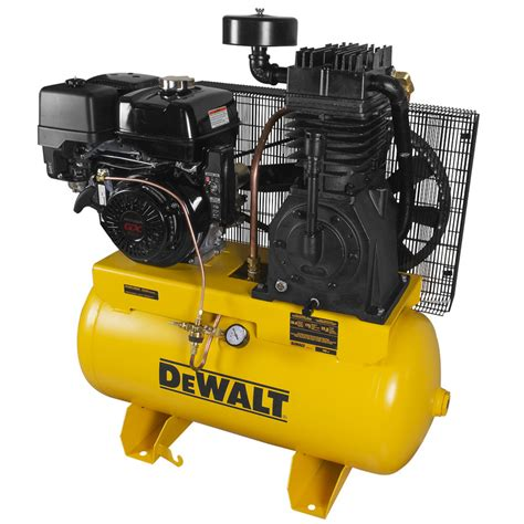 shop dewalt 30 gallon gas horizontal air compressor at lowes