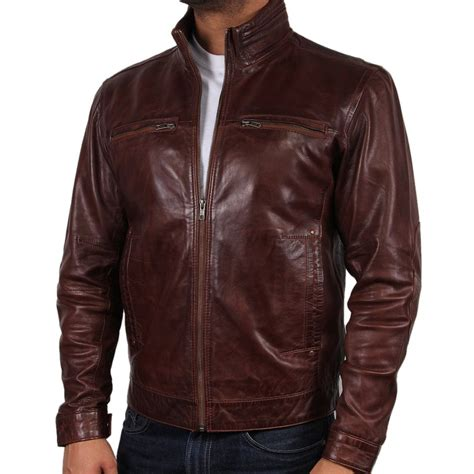 brown leather jacket mens s brown leather jacket chicago