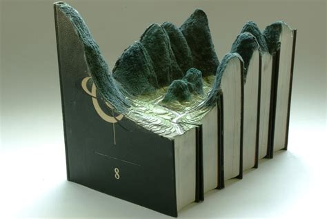 Landscape Artists Books Carved Book Landscapes By Laramee Colossal
