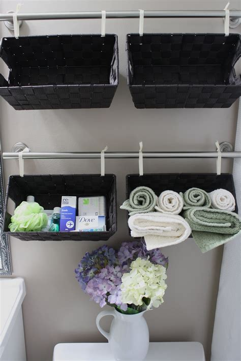 bathroom wall storage baskets 30 diy storage ideas to organize your bathroom page 2