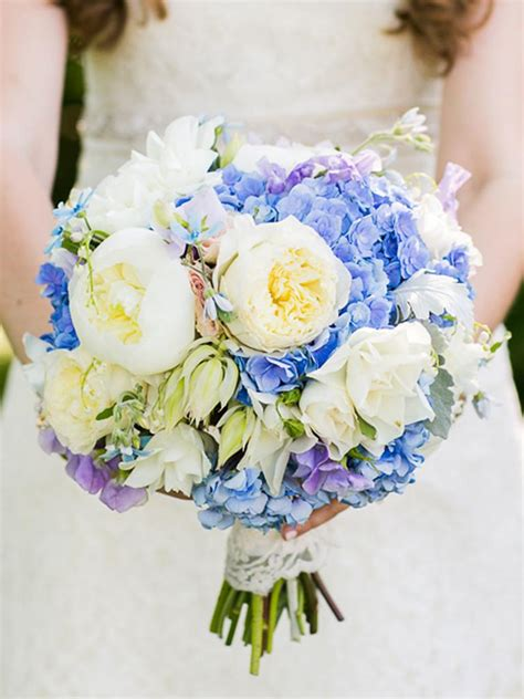 Blue Wedding Bouquets by The Best Blue Wedding Flowers And 16 Gorgeous Blue Bouquets