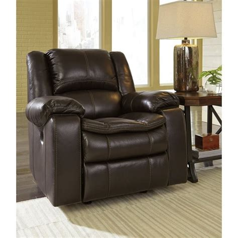 Faux Leather Recliners by Faux Leather Rocker Recliner In Brown