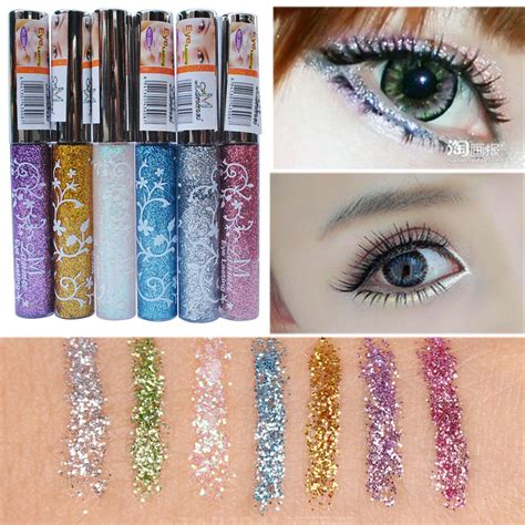 Eyeshadow Glitter Murah delineador brand makeup waterproof eye liner pencil pen shining liquid eyeliner glitter eye
