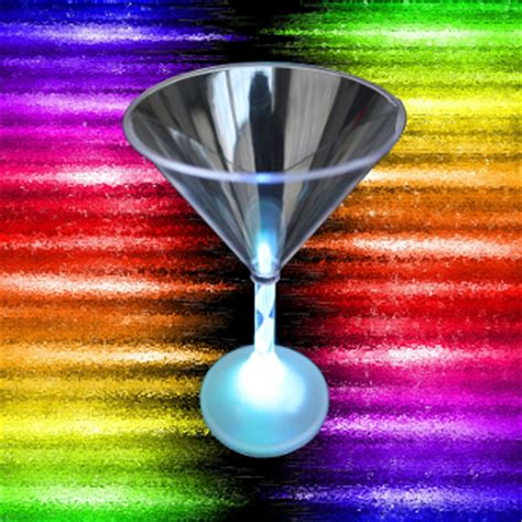 martini rainbow rainbow led light up glow martini glass bar