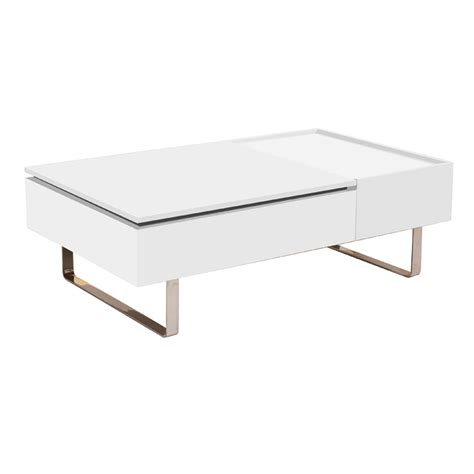Hide A Bed Chair Reveal Coffee Table White Dwell