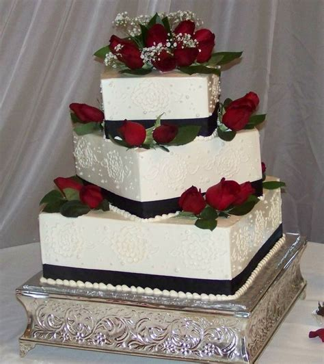rose themed cake black and white cakes with red flowers black white and