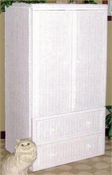 White Wicker Armoire by White Wicker Dresser Wicker Chest Of Drawers