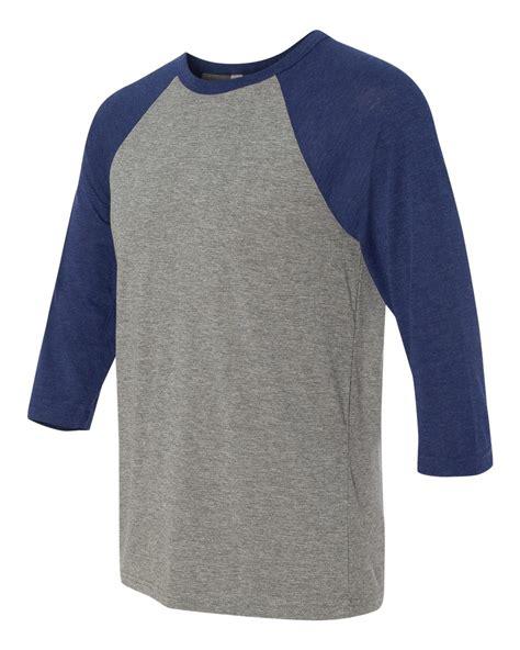 Cottonbdg Baseball Raglan 3 4 Navy Premium canvas premium 3 4 baseball tri blend vintage raglan t shirt 3200 ebay