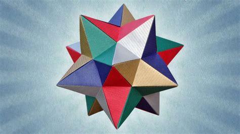 Origami Lesser Stellated Dodecahedron Meenakshi Mukerji - oltre 1000 immagini su origami modular su