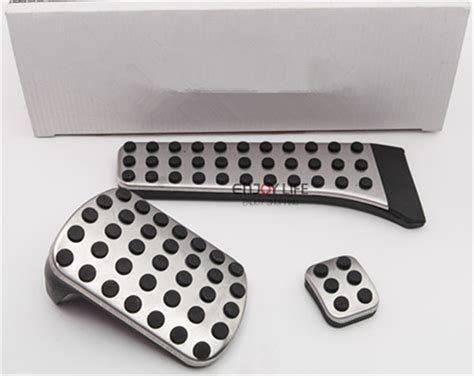 Pedal Gas Mercedes C Class W204 3pcs set gas fuel brake footrest foot pedal plate at for mercedes w202 w203 w204 w205 c180