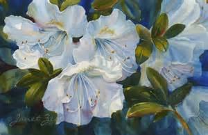 paintings of flowers janet zeh original art watercolor and oil paintings white azalea flowers original floral