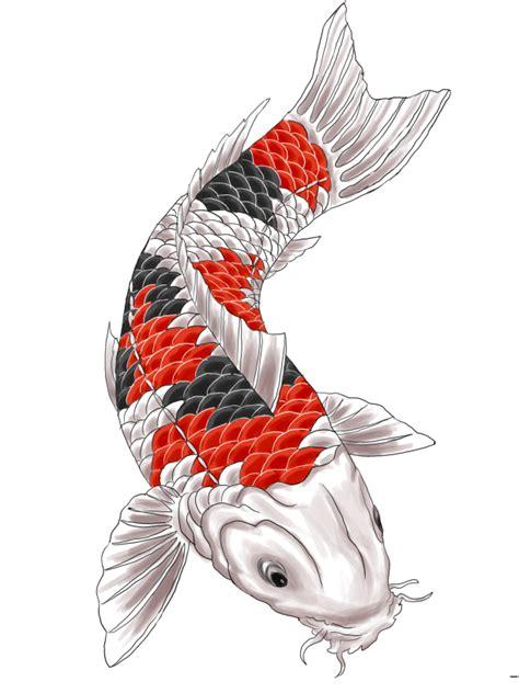 koi tattoo black and red red and black koi tattoo design by gaikotsu91