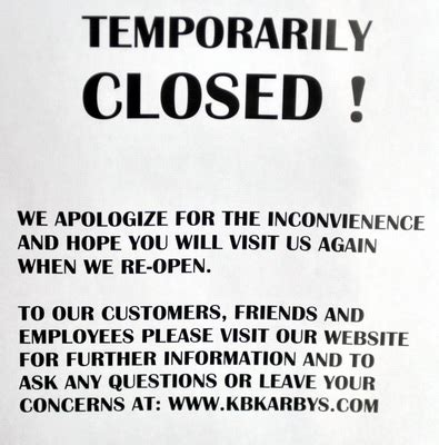 area arby's restaurants closed due to tough economy