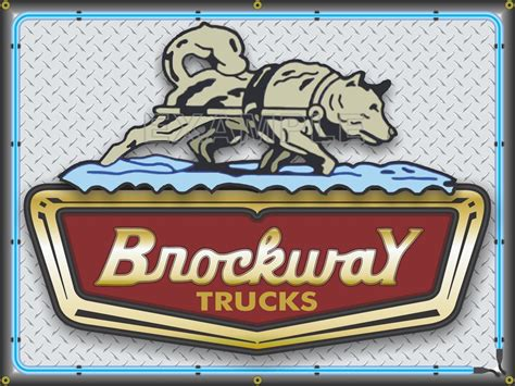 brockway trucks dealer sales emblem sign remake banner art