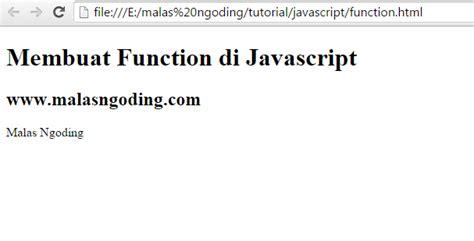 membuat query di javascript belajar javascript part 6 membuat function di javascript
