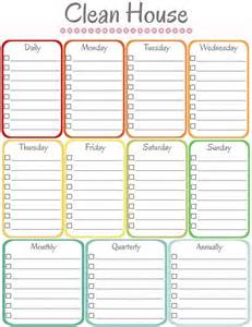 blank cleaning schedule template find your favorite printable cleaning schedule my diy envy