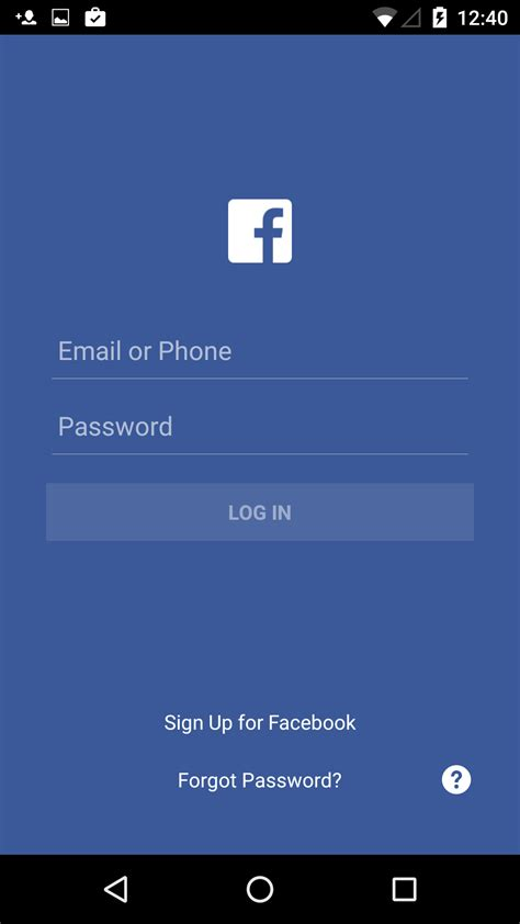 home screen design inspiration login screen facebook ui inspiration interface