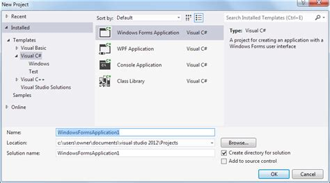 design form visual studio 2012 your first c windows form infotechdhamo