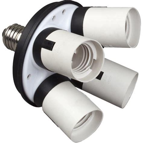 light socket extender home depot impact 4 socket fluorescent adapter ff sa4 b h photo
