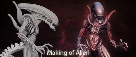 zbrush armature tutorial zbrush info making of alien by fabio bautista colombia