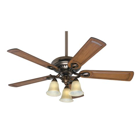 ceiling fans with lights at lowes shop prestige by whitten 52 in bronze patina downrod or flush mount ceiling fan with